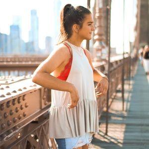 Urban outfitters flowey peplum top